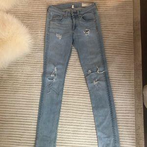Rag & Bone light wash jeans size 25